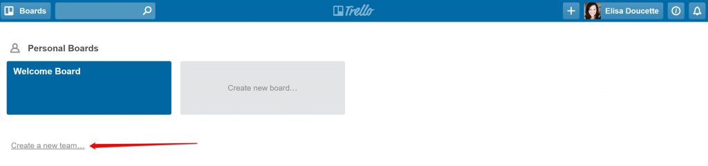 new Trello team
